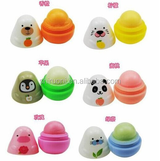 2016 hot sale round Lip balm OEM