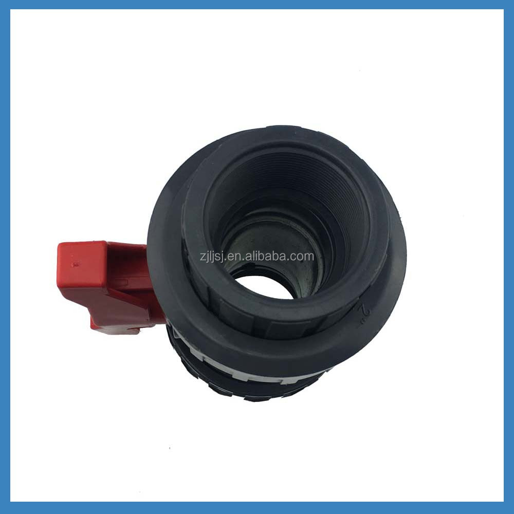 top quality good price PVC double union ball valve, plastic valves for agriculture