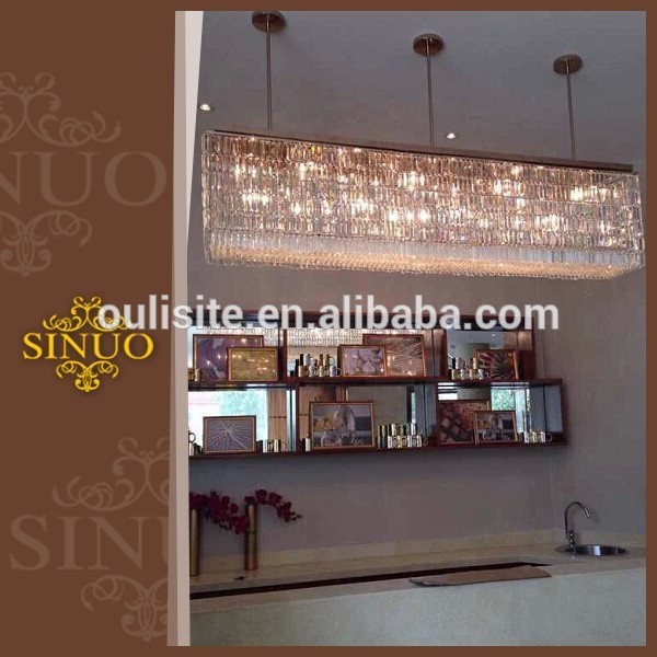 High quality European style hotel crystal energy saving square pendant chandelier crystal
