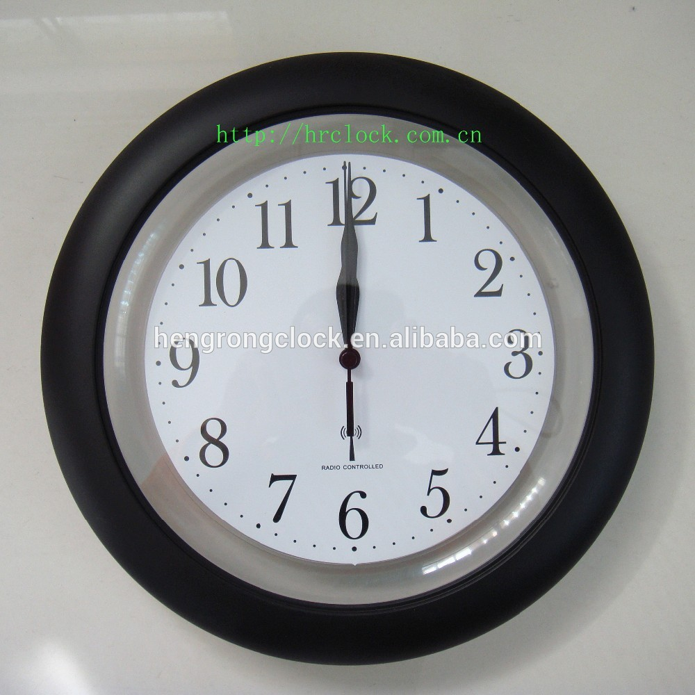 WWVB JJY DCF MSF radio controlled clock plastic wall clock decorative roman numerals wall clock