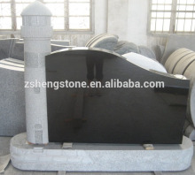 Chinese Black granite headstone monument for American style