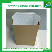 perishable products packaging box bubble liner moisture proof