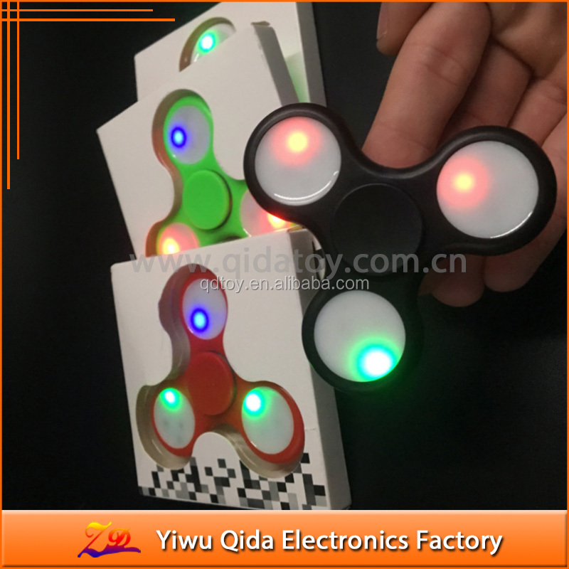 plastic led Fidget Toy Anti Stress Toy Fidget Spinner led Hand Spinner Finger Spinner