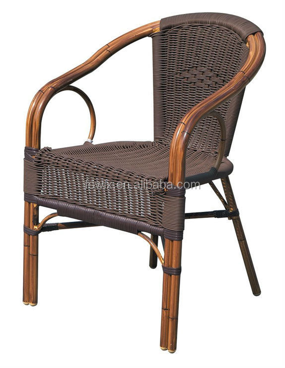 imitation bamboo rattan dining chair