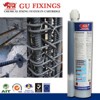 chemical raw construction glue installation use in dry concrete screw
