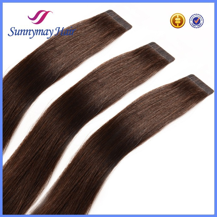 100% Human Hair Dark Brown Indian Remy Tape Hair Extensions 40pcs