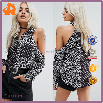 custom pattern blouse design,latest hot sexy girls blouse with collar