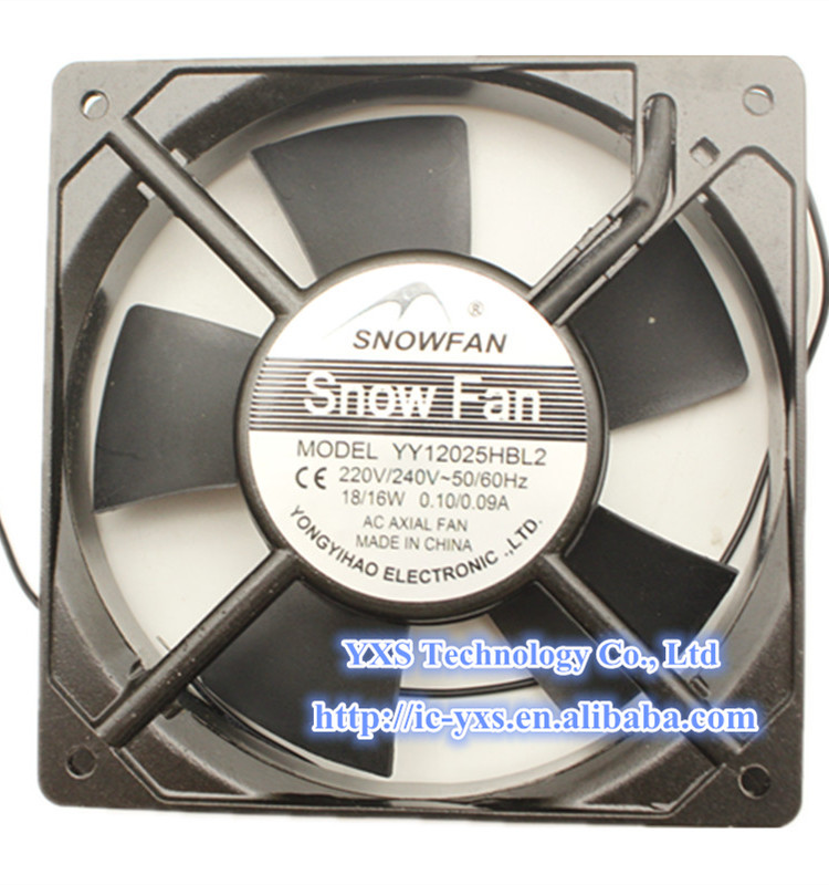 YY12025HBL2 Fan AC220V 120*120*25MM 0.10/0.09A Dual Ball Bearing Cooling Fan