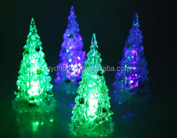 White Christmas Tree With Blue Lights As Christmas Eve Decoration/lighted  Ceramic Christmas Tree