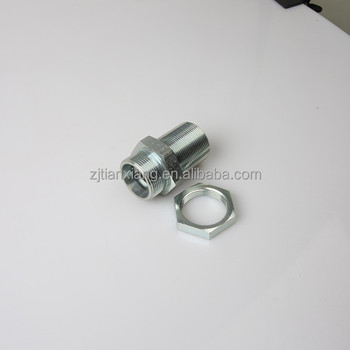 CNC manufacturer good quality 24 degree hydraulic bulkhead light straight fitting