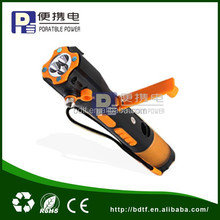 easy hand-held emergency tool flashlight wit safety hammer and light