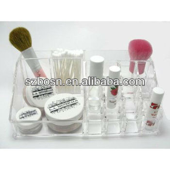 acrylic makeup brush display organizer