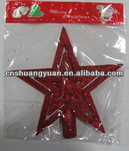 2013 Professional christmas tree decoration red star