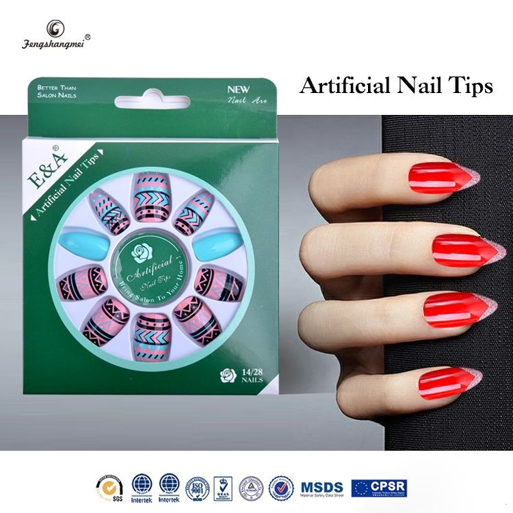 fengshangmei nail art eco-friendly acrylic nail tips plain artificial nail tips