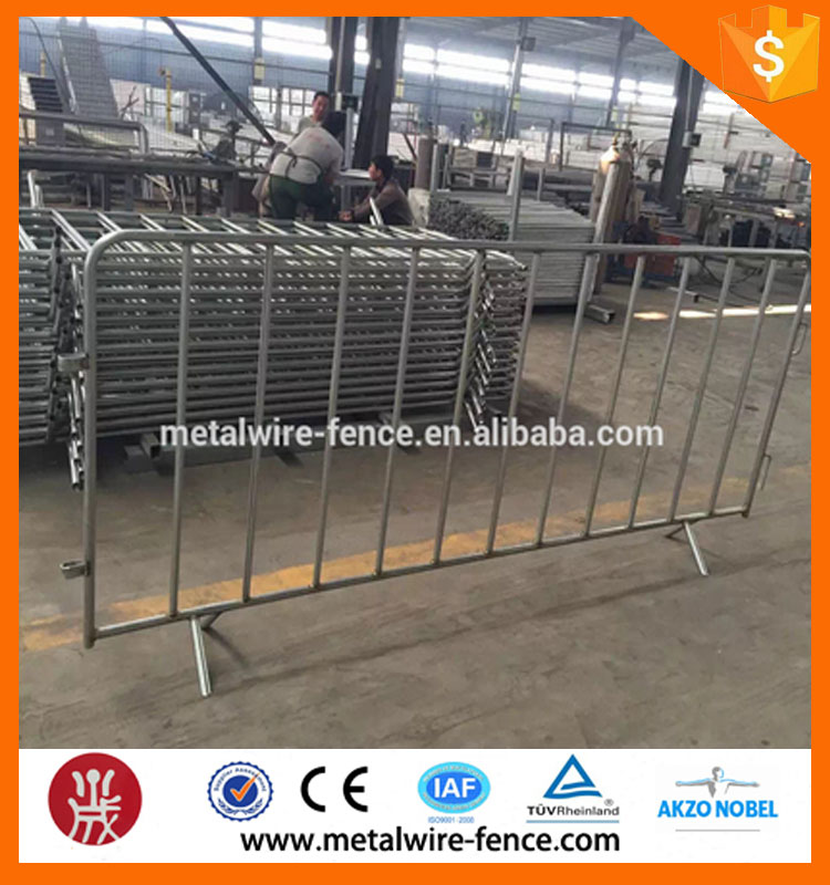 shengxin design portable fence/removable guardrail/used crowd control barrier