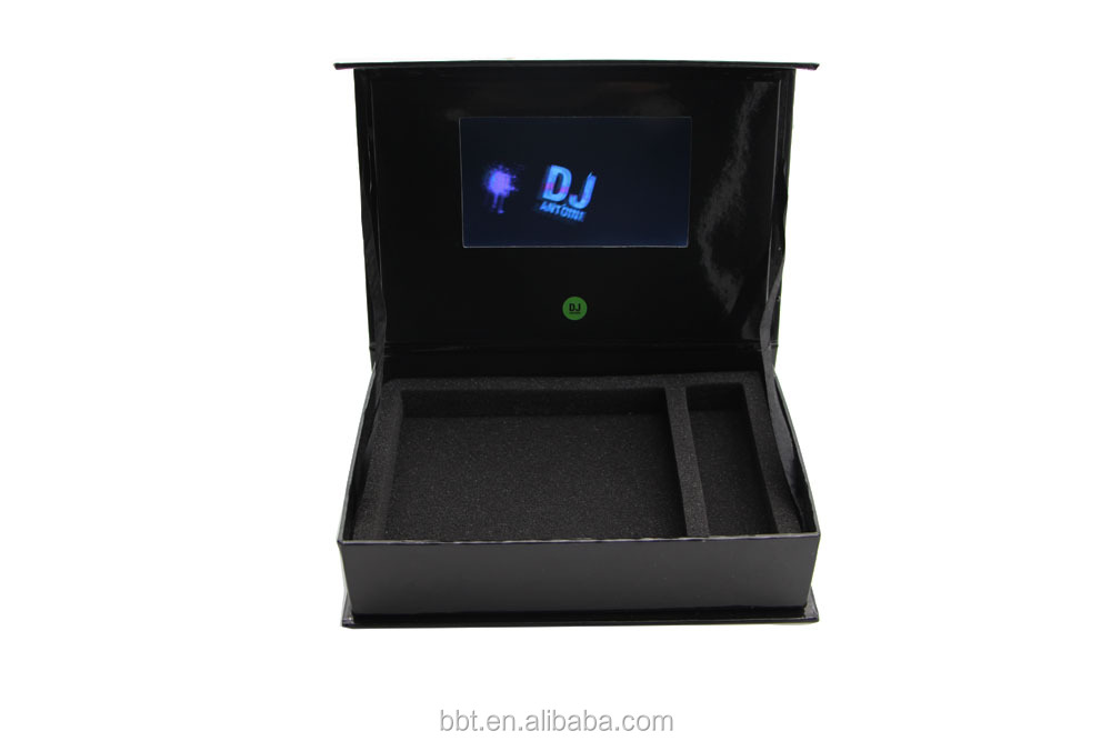 Full customized 4.3inch lcd video box video brochure lcd wedding invitation cards