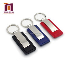 Metal keyring handmade genuine leather key chain