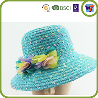 New fashion 100% paper straw ladies straw hats wholesale