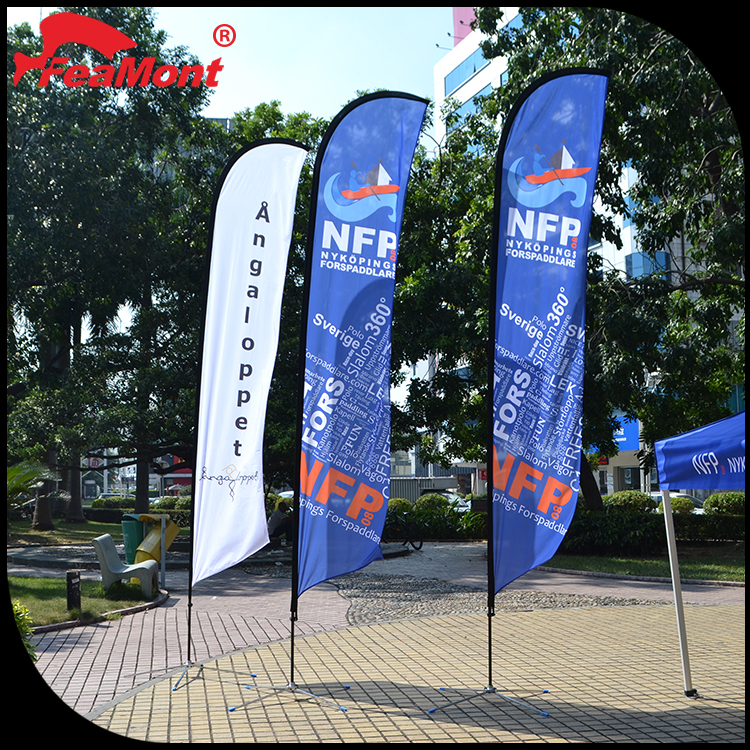 Aluminum telescopic flag pole for feather flags with T shape