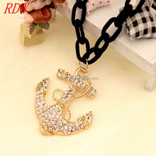 RDW 2015 South Korea's Oal Necklaces/Diamond Pendant, All-match Fashion Jewelry, Explosion Models With Nautical Anchor