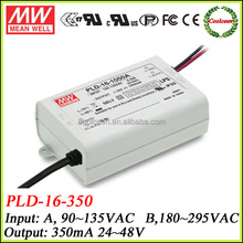 Meanwell PLD-16-350B 16w mini constant current led driver 350ma