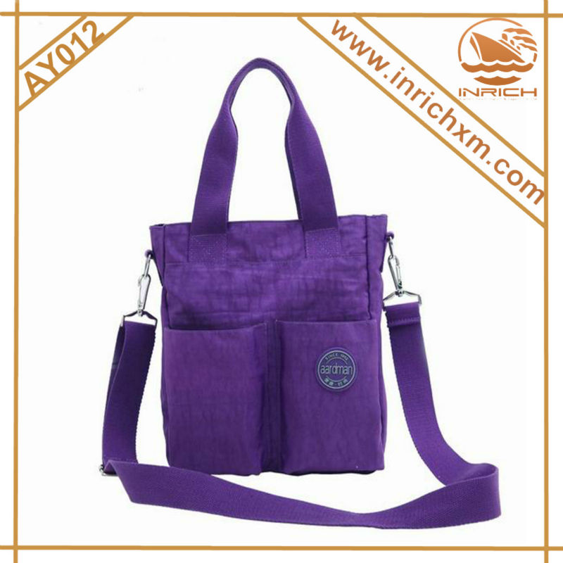 High Quality Crinkle Nylon Tote Shoulder Bag Soft Textile Baby Daiper Bag