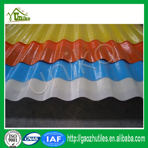 plastic transparent french fiberglass roof tile for sale