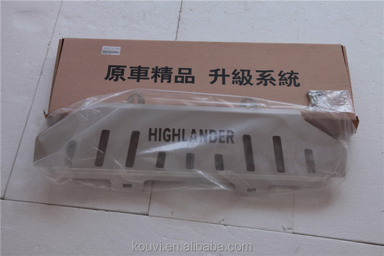auto bumper cover for Highlander skid plate