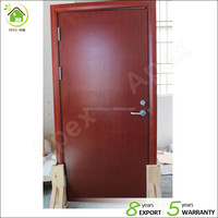 Certificated Fire Rated Wood Door 2 hours fire rated solid wood material composite wood material with certificated