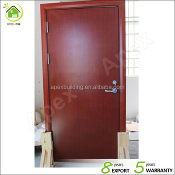 Certificated Fire Rated Wood Door 2 hours fire rated solid wood ...