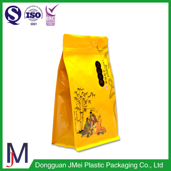 Customized Flat Bottom Zip Lock Laminated Clear Plastic Aluminium Foil Flexible Packing Bags For Nuts/Food/Tea/Coffee
