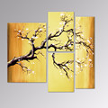 Plum Blossom Canvas Paintings/Group Flower Handmade Artwork/Modern Wall Art Decor