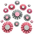 2015 NEW PINK DIY Paper Rosettes fan paper flower for party Paper Backdrop decoration
