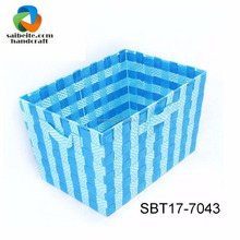 Wholesale Colorful Woven Nylon Trapezoid Storage Bin For Home Office Closets Everyday Storage Needs
