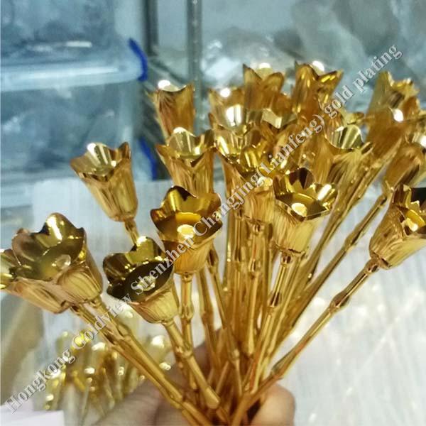 24k Gold Foil Gold Rose Flower,Artificial Flowers Rose,Gold ...