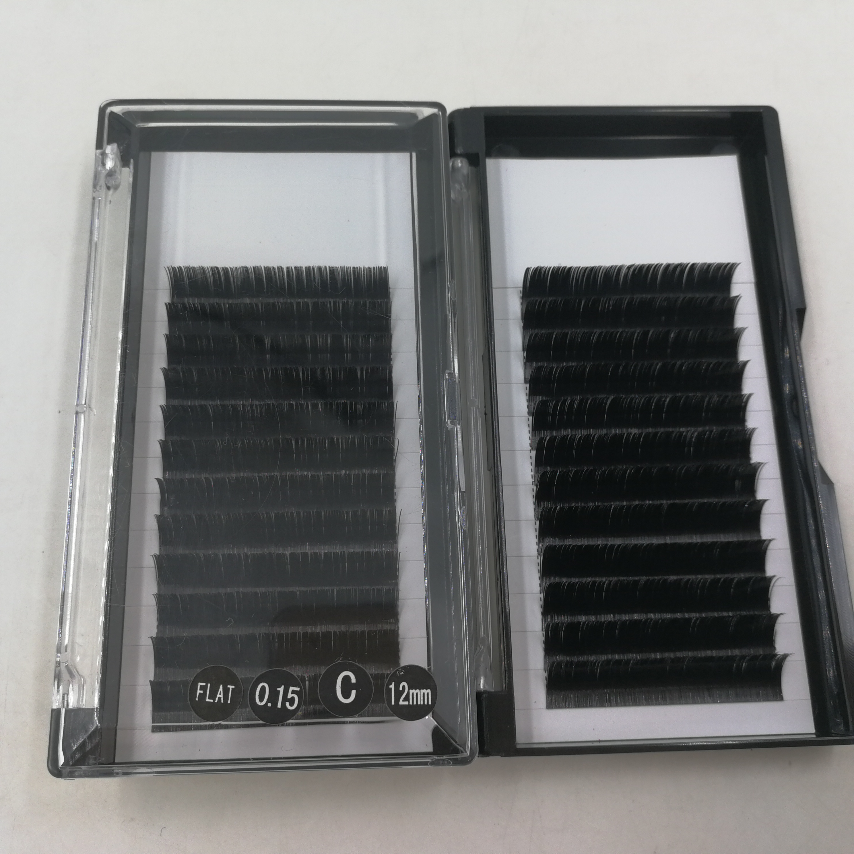 0.15mm &amp; 0.20mm ellipse <strong>flat</strong> shape false lashes split eyelash extensions