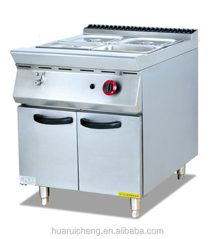 Commercial restaurant kitchen heavy duty gas bain marie food warmer