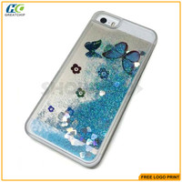 High Quality Bling Bling Butterfly 3D Liquid Case For iPhone 6S Back Cover