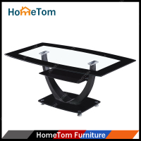 Black Tempered Glass Living Room Furniture