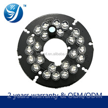 Feyond cctv camera accessories 24leds infrared led pcb board for cctv camera fixed plastic dome with glass