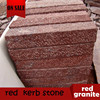 chinese natural red granite kerb stone for paving