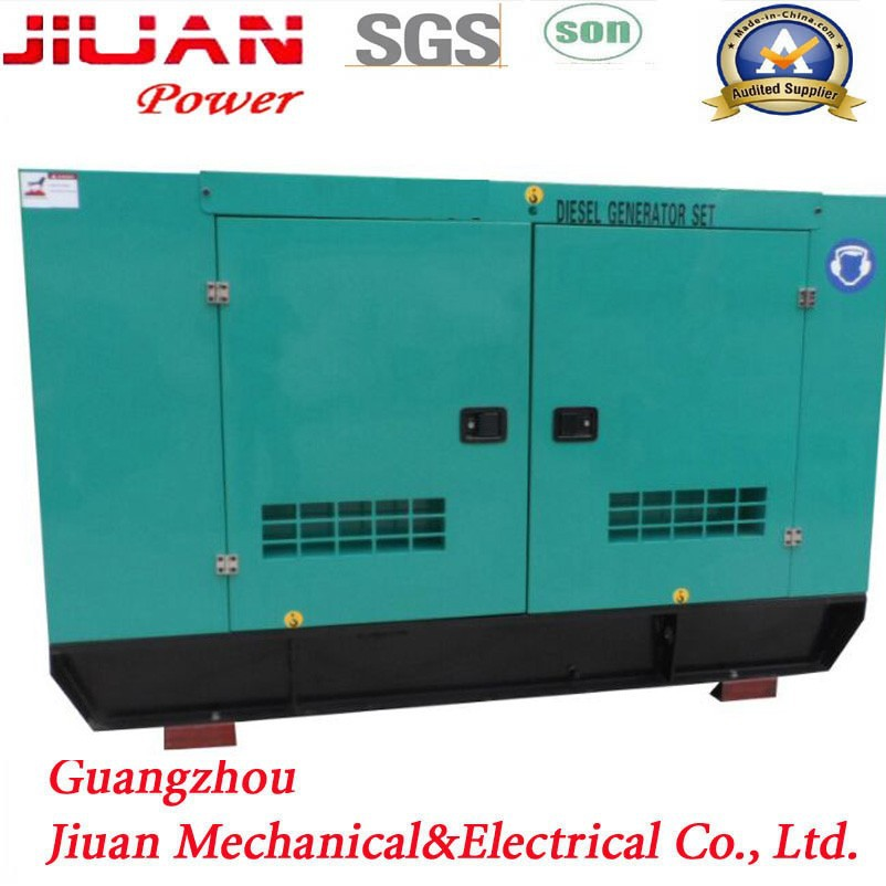 Water cooled Soundproof 50kw/60kva Diesel Generator powered by Cumminss engine