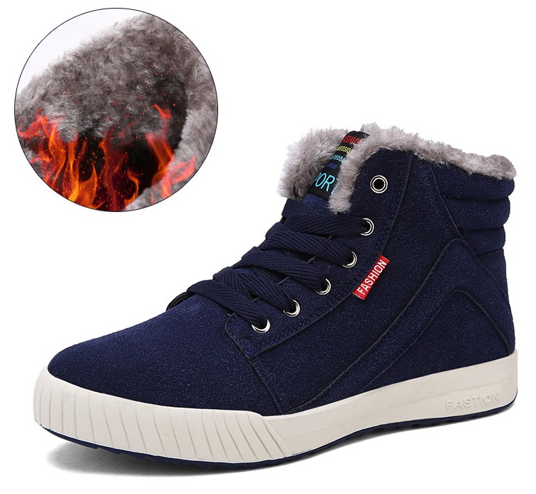 2016 Super Cool Men's Skateboarding Shoes High Top Winter Warm Snow <strong>Boots</strong> Outdoor Comfortable Athletic Teenage Walking Sneakers