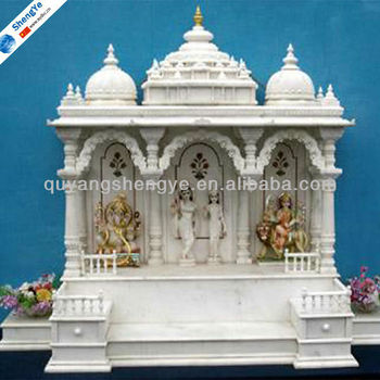 White marble home mandir design buy mandir for home for Temples at home designs