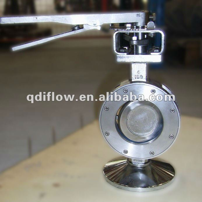 High performance butterfly valve double eccentric design