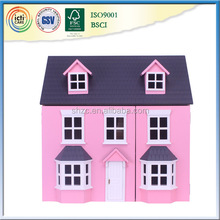 Your best new style wooden play pink house,malay wedding gift