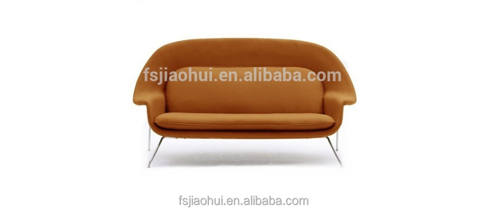 comfortable cloth cover furniture two seater Nordic womb easy sofa