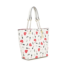2017 White High Quality Fashion Beautiful design pu leather handbag for lady