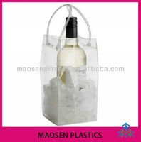 PVC clear plastic bag for wine bottle,one piece bottle packing bag