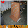 Factory handful assembled wood store slatwall display shelf/perfect finish dress display stand